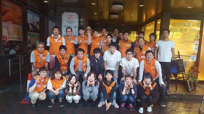 熊本地震ボランティア第三陣参加者たち